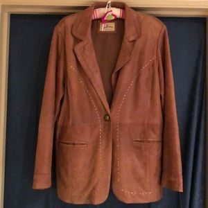 CLOSET CLEAR OUT Joe Browns leather blazer